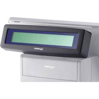 Posiflex Kunden-Anzeige 2 x 20 Zeichen, VFD, USB für PS-Serie (rückseitig), schwarz