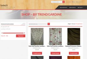 Gardine24 Screenshot Webdesign Referenzen