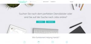Helping Hands Dienstleistungen Screenshot Webdesign Referenzen