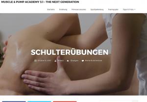 Muscle and Pump Academy Screenshot Webdesign Referenzen