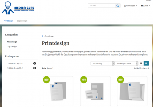 Medien Guru Printdesign Screenshot