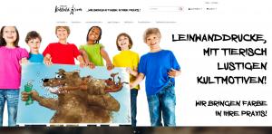 Praxis-Kultbild Screenshot Webdesign Referenzen